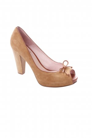 si by sinela Peeptoe Pumps hellbraun-cognac Casual-Look