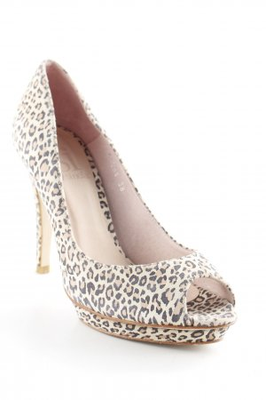 si by sinela Peeptoe Pumps Leomuster Animal-Look