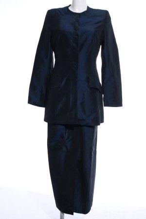 Tailleur bleu style mouillé