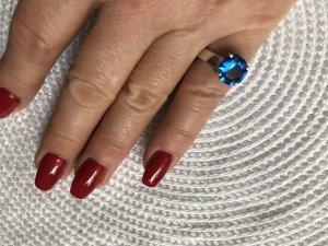 Sibel Ring mit blauen Stein Gr. 16