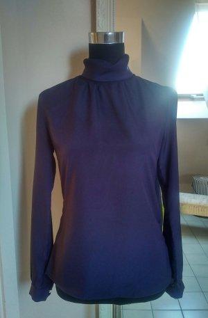 Sienna Blouse à col montant violet foncé