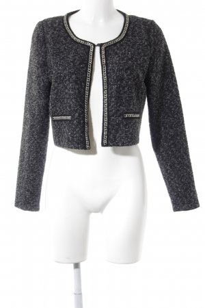 Sienna Cardigan schwarz-grau meliert Business-Look