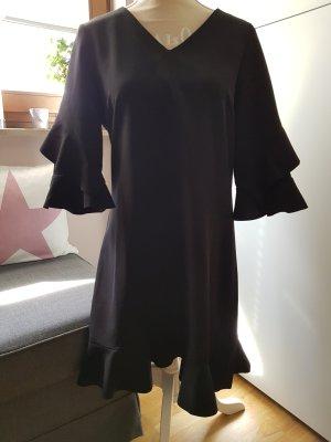 Sienna Vestido estilo flounce negro