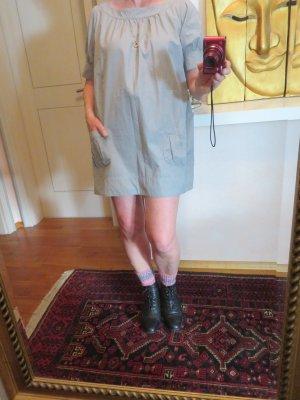 Sienna Kleid Hängerchen Hellgrau Conleys Impressionen Tunika Long Bluse M 38 mit Taschen