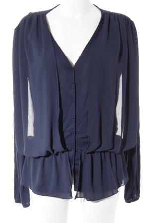 Sienna Langarm-Bluse dunkelblau Casual-Look