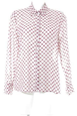 Sienna Blouse à manches longues rouge framboise-blanc motif de tache
