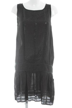 Sienna Midi-jurk zwart casual uitstraling