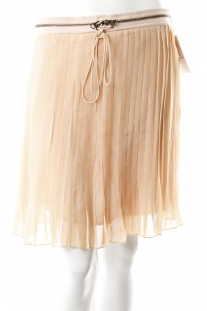 Sienna Pleated Skirt nude-cream casual look