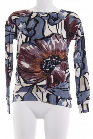Sienna Rundhalspullover florales Muster Romantik-Look