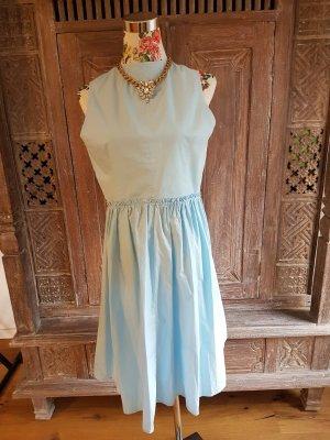 Sienna Off the shoulder jurk azuur