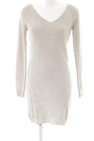 Sienna Gebreide jurk lichtgrijs casual uitstraling