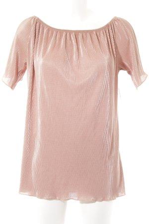 Sienna Camiseta color rosa dorado-color oro estampado a rayas look casual