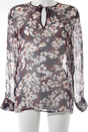 Sienna Transparenz-Bluse florales Muster Transparenz-Optik