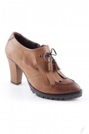 Sienna Western Booties cognac-coloured country style