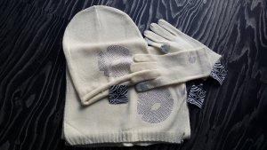 Bufanda color plata-crema