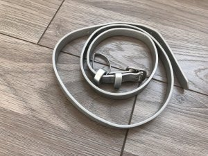 Tchibo / TCM Faux Leather Belt silver-colored imitation leather
