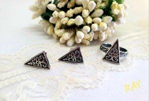 0039 Italy Boucles d'oreilles en argent argenté-blanc