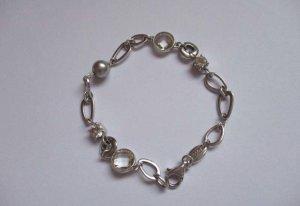 Silber 925 Arm Kette mit Zirkonia