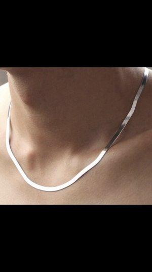 Silber 925 flache schlangenkette 50 cm neu