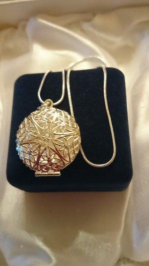 Silber 925 Halskette mit filigran Anhänger Medaillon