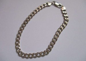0039 Italy Silver Bracelet silver-colored