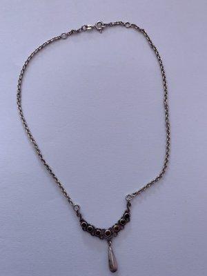 Silber 925 Jugendstil Kette mit Granat