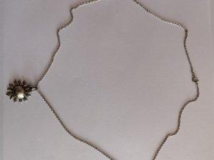 Silber 925 Kette mit Silber Sonnen Anhänger