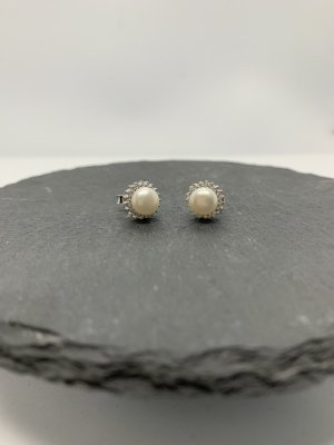 Silber 925 ohrstecker mit perle neu