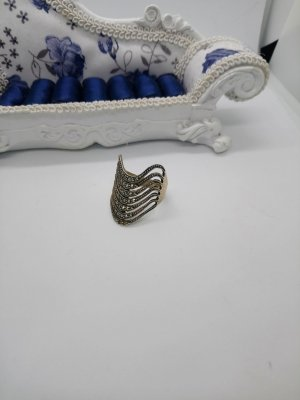 Silber 925 Ring mit Markasitensteine