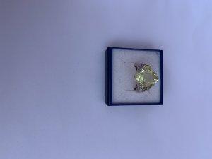 Silber 925 Ring mit Olivin Stein
