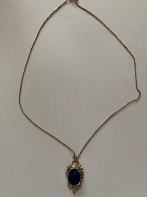 Silber 925 Venezianer Kette mit Silber 925 Anhänger mit Lapis Lazuli Stein