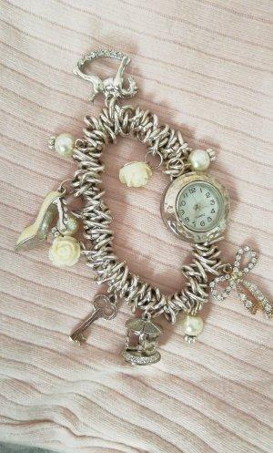 Silber Armbanduhr