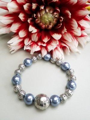 Silber blaues Armband