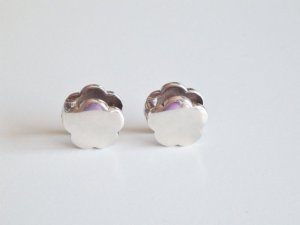 Silber Blüten Ohrringe