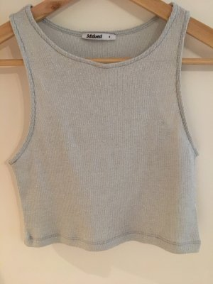 Silber Crop Top
