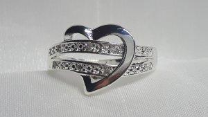 Silber Damen Ring Herz Sterlingsilber 925 mit Zirkonia
