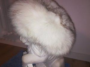 & other stories Sombrero de piel blanco-color plata