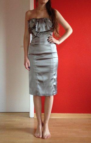 Silber-glänzendes Designerkleid von Karen Millen