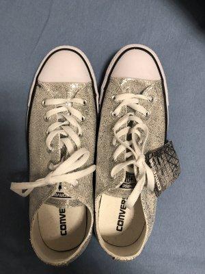 Silber-Glitzer Converse