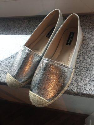 Silber Glitzer Espandrilles
