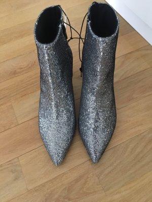 Silber Glitzer Stiefeletten