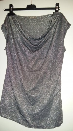 Orsay Cowl-Neck Shirt silver-colored