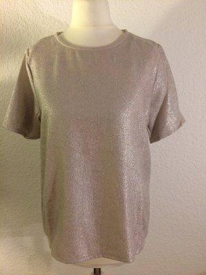 Silber / Gold schimmerndes Shirt | Größe 38