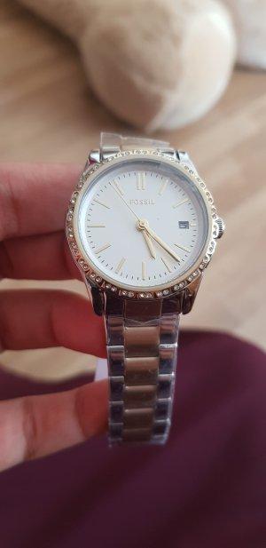 silber goldene Fossil damen Uhr neu