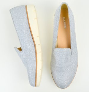 Graceland Slippers silver-colored-white