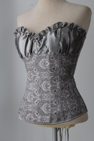 Corsage Top silver-colored-light grey