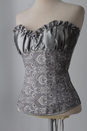 Haut type corsage argenté-gris clair