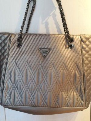 Silber-graue Guess Handtasche