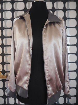 silber graue Jacke / Bomberjacke / Blouson von H&M in Größe 38