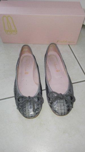Pretty ballerinas Mary Jane ballerina's grijs-zilver Leer